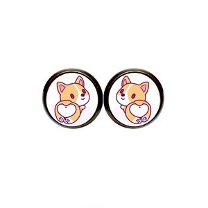 Kawaii Corgi Earrings